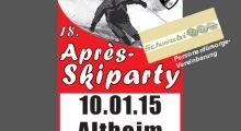 Après-Skiparty am 10.01.15